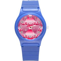 Seamless Repeat Repeating Pattern Round Plastic Sport Watch (s)