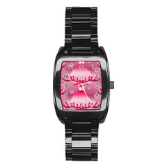 Seamless Repeat Repeating Pattern Stainless Steel Barrel Watch