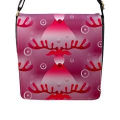Seamless Repeat Repeating Pattern Flap Messenger Bag (l)