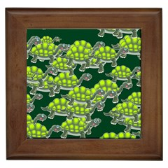 Seamless Tile Background Abstract Turtle Turtles Framed Tiles