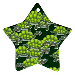 Seamless Tile Background Abstract Turtle Turtles Ornament (star)