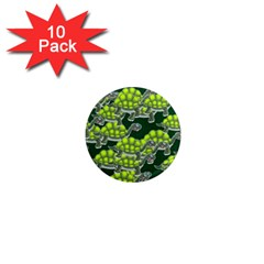 Seamless Tile Background Abstract Turtle Turtles 1  Mini Magnet (10 Pack)