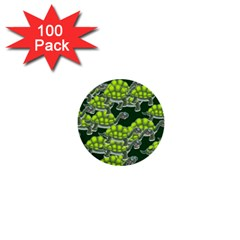 Seamless Tile Background Abstract Turtle Turtles 1  Mini Buttons (100 Pack)