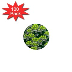 Seamless Tile Background Abstract Turtle Turtles 1  Mini Magnets (100 Pack)