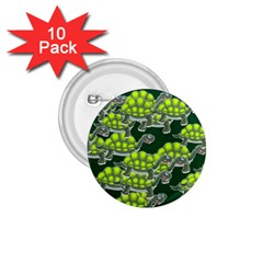Seamless Tile Background Abstract Turtle Turtles 1.75  Buttons (10 pack)