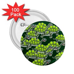 Seamless Tile Background Abstract Turtle Turtles 2 25  Buttons (100 Pack)