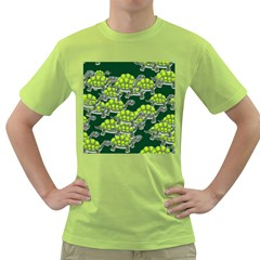 Seamless Tile Background Abstract Turtle Turtles Green T Shirt