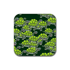 Seamless Tile Background Abstract Turtle Turtles Rubber Coaster (Square)