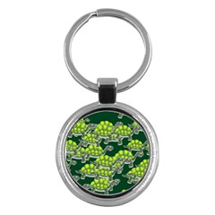 Seamless Tile Background Abstract Turtle Turtles Key Chains (round)