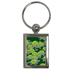 Seamless Tile Background Abstract Turtle Turtles Key Chains (Rectangle)