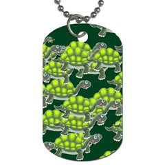 Seamless Tile Background Abstract Turtle Turtles Dog Tag (one Side)
