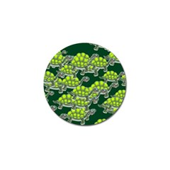 Seamless Tile Background Abstract Turtle Turtles Golf Ball Marker (4 Pack)