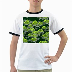 Seamless Tile Background Abstract Turtle Turtles Ringer T Shirts