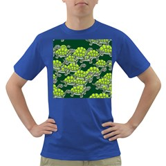 Seamless Tile Background Abstract Turtle Turtles Dark T-Shirt
