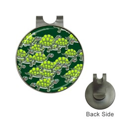Seamless Tile Background Abstract Turtle Turtles Hat Clips With Golf Markers