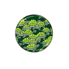 Seamless Tile Background Abstract Turtle Turtles Hat Clip Ball Marker (4 Pack)