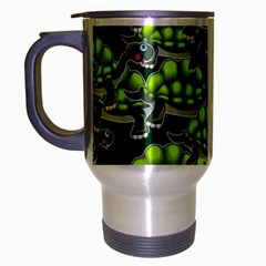 Seamless Tile Background Abstract Turtle Turtles Travel Mug (silver Gray)