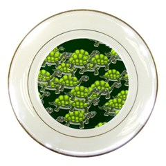 Seamless Tile Background Abstract Turtle Turtles Porcelain Plates