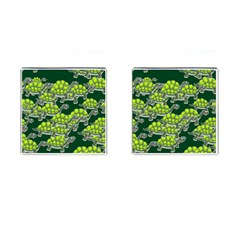 Seamless Tile Background Abstract Turtle Turtles Cufflinks (square)