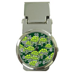 Seamless Tile Background Abstract Turtle Turtles Money Clip Watches