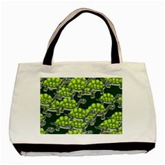 Seamless Tile Background Abstract Turtle Turtles Basic Tote Bag