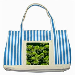Seamless Tile Background Abstract Turtle Turtles Striped Blue Tote Bag