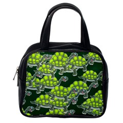 Seamless Tile Background Abstract Turtle Turtles Classic Handbags (one Side)