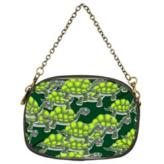 Seamless Tile Background Abstract Turtle Turtles Chain Purses (one Side)