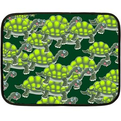 Seamless Tile Background Abstract Turtle Turtles Double Sided Fleece Blanket (mini)