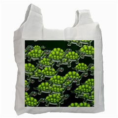 Seamless Tile Background Abstract Turtle Turtles Recycle Bag (two Side)