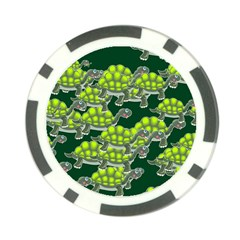 Seamless Tile Background Abstract Turtle Turtles Poker Chip Card Guard (10 Pack)