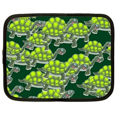 Seamless Tile Background Abstract Turtle Turtles Netbook Case (xxl)