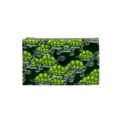 Seamless Tile Background Abstract Turtle Turtles Cosmetic Bag (small)