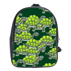 Seamless Tile Background Abstract Turtle Turtles School Bags(large)