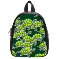 Seamless Tile Background Abstract Turtle Turtles School Bags (Small)