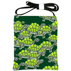 Seamless Tile Background Abstract Turtle Turtles Shoulder Sling Bags