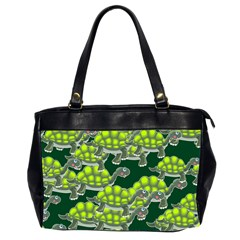 Seamless Tile Background Abstract Turtle Turtles Office Handbags (2 Sides)