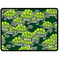 Seamless Tile Background Abstract Turtle Turtles Fleece Blanket (large)