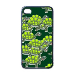 Seamless Tile Background Abstract Turtle Turtles Apple Iphone 4 Case (black)