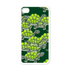 Seamless Tile Background Abstract Turtle Turtles Apple Iphone 4 Case (white)
