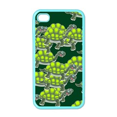 Seamless Tile Background Abstract Turtle Turtles Apple Iphone 4 Case (color)