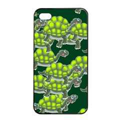 Seamless Tile Background Abstract Turtle Turtles Apple Iphone 4/4s Seamless Case (black)