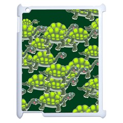Seamless Tile Background Abstract Turtle Turtles Apple Ipad 2 Case (white)