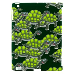 Seamless Tile Background Abstract Turtle Turtles Apple Ipad 3/4 Hardshell Case (compatible With Smart Cover)