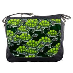 Seamless Tile Background Abstract Turtle Turtles Messenger Bags