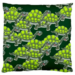 Seamless Tile Background Abstract Turtle Turtles Large Cushion Case (Two Sides)