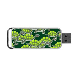 Seamless Tile Background Abstract Turtle Turtles Portable Usb Flash (two Sides)