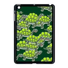 Seamless Tile Background Abstract Turtle Turtles Apple Ipad Mini Case (black)