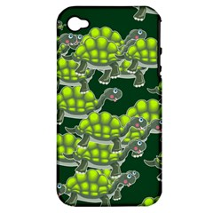 Seamless Tile Background Abstract Turtle Turtles Apple Iphone 4/4s Hardshell Case (pc+silicone)