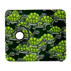 Seamless Tile Background Abstract Turtle Turtles Galaxy S3 (flip/folio)